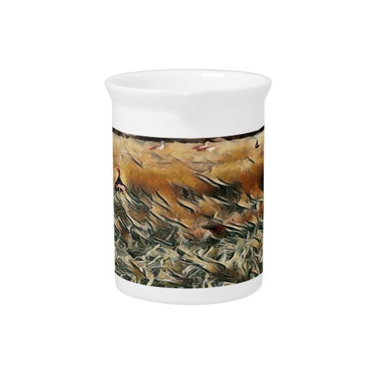 Geese and Duck Roam Art Beverage Pitcher