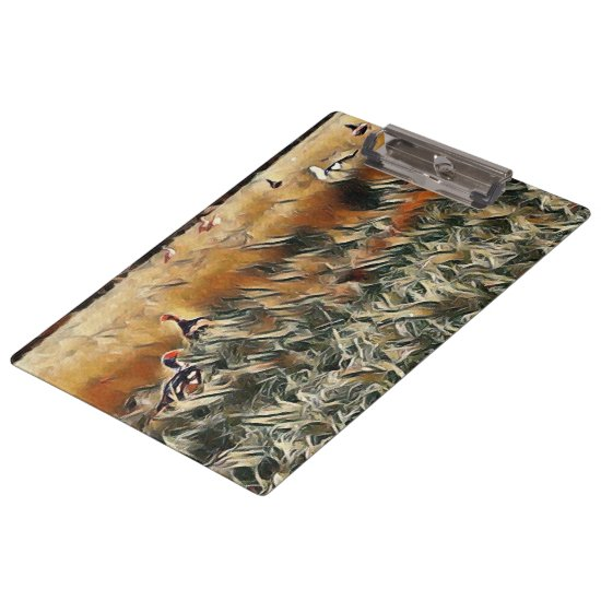 Geese and Duck Roam Art Clipboard
