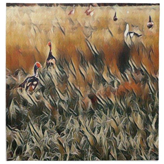 Geese and Duck Roam Art Cloth Napkin