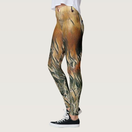 Geese and Duck Roam Art Leggings