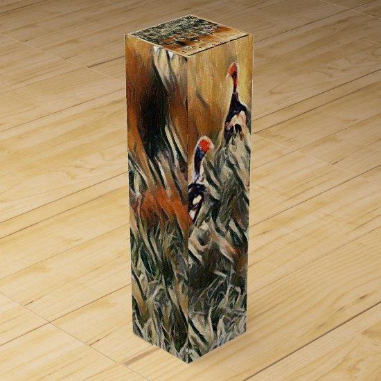 Geese and Duck Roam Art Wine Box