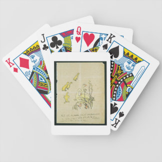 Geese and Goslings (w/c & ink on paper) Bicycle Playing Cards
