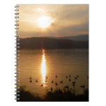 Geese and peach sunset notebooks