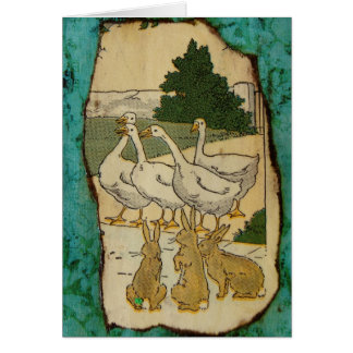 Geese and Rabbits Card