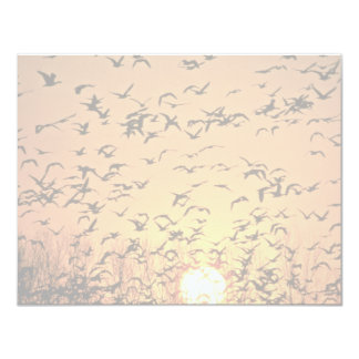 Geese at Sunrise Custom Invitations
