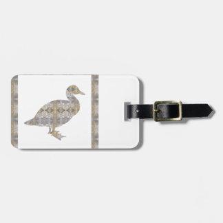 GEESE Bird CRYSAL Stone Pattern NVN429 FUN KIDS Luggage Tags