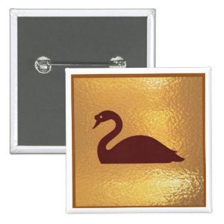 Geese Bird  - Medal Icon Gold Base Pins
