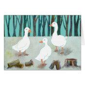 Geese: Blank Card card