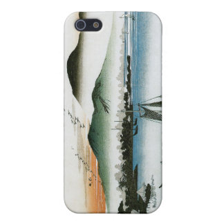 Geese, Boats, and Mountains. Katada, Japan iPhone 5 Covers