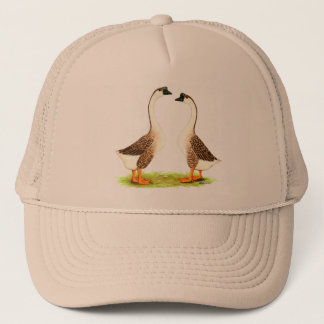 Geese:  Brown Chinese Trucker Hat