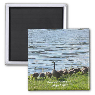 Geese by the Lake Magnet