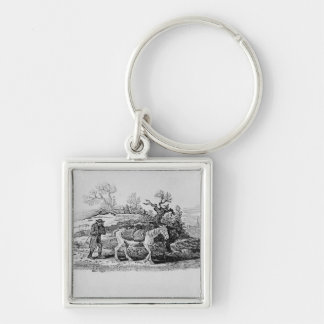 Geese carried to market keychain