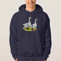Geese:  Embden Pair Hoodie