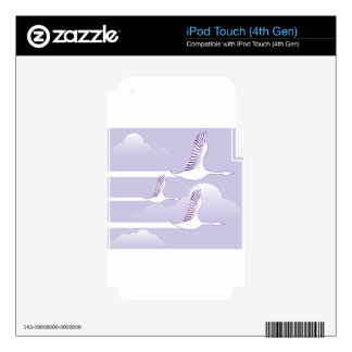 Geese Flying vector Decal For iPod Touch 4G