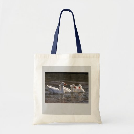 Geese in the Duckpond Canvas Bag