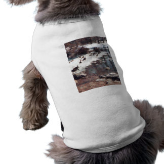 Geese on an Icy Pond Pet Tshirt
