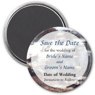Geese on Icy Pond Save the Date Magnet