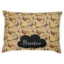 Geese & Pheasants Pattern Pet Bed