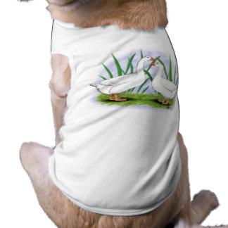 Geese:  Roman Tufted Pair Doggie Tshirt