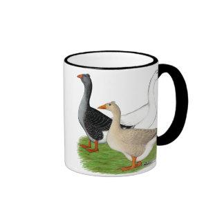 Geese:  Tufted Trio Ringer Mug