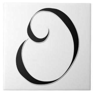 Monogram ceramic tiles zazzle for Letter o monogram