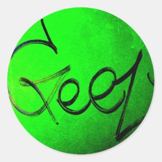 Geez Classic Round Sticker