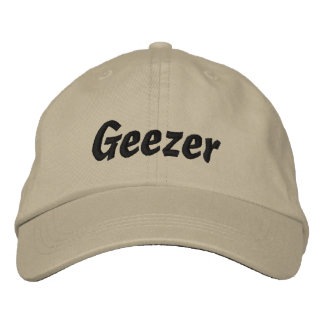 Geezer Embroidered Cap / Hat Embroidered Hat