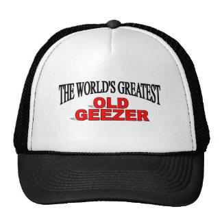 Geezer más grande del mundo el viejo gorras de camionero