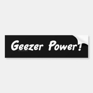 Geezer Power Bumper Sticker