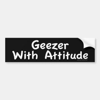 Geezer With Attitude Bumper Sticker