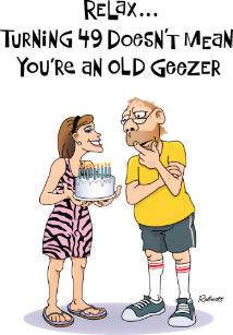 Geezers 49th Birthday Card