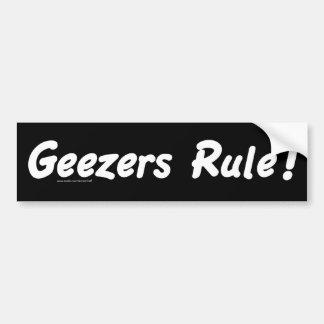Geezers Rule Bumper Sticker