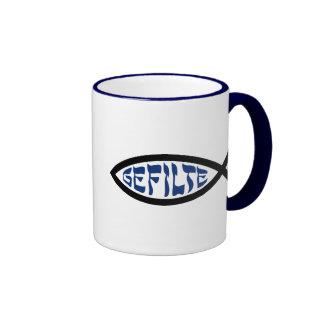 Gefilte Jesus Fish Ringer Coffee Mug