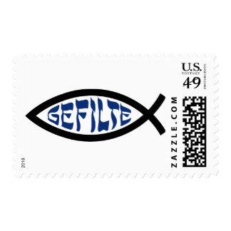 Gefilte Jesus Fish Postage Stamp