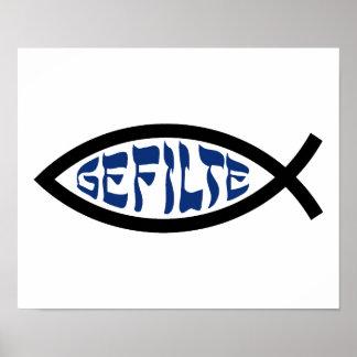 Gefilte Jesus Fish Poster