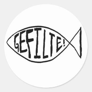 gefiltefishdarwinian round sticker
