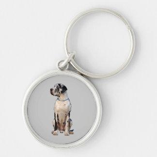 Gefleckte Dogge Key Chain