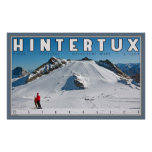 Geforene Wand at Hintertux Poster