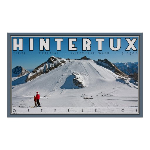 geforene wand at hintertux poster zazzle. Black Bedroom Furniture Sets. Home Design Ideas