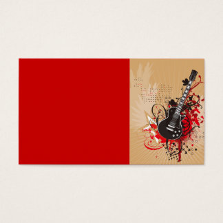 GEGV GRUNGE ELECTRIC GUITAR VECTOR GRAPHIC MUSIC R BUSINESS CARD