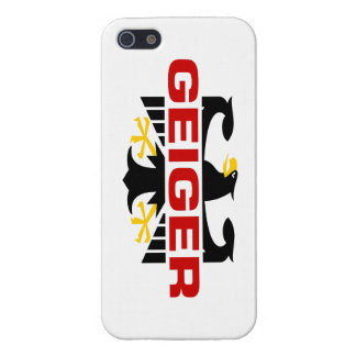Geiger Surname iPhone 5 Cases