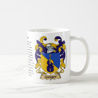 Geiger, the Origin, the Meaning and the Crest Mug