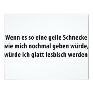 geile schnecke icon card