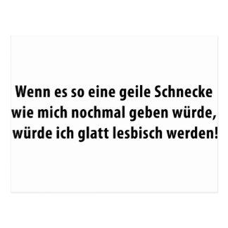 geile schnecke icon postcard