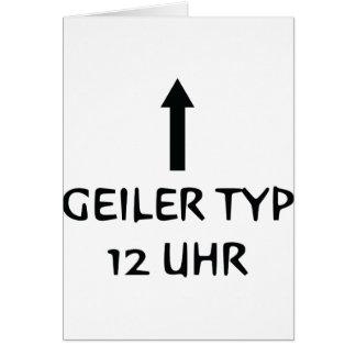 geiler typ 12 uhr icon card