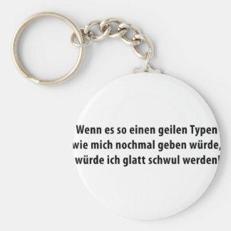 geiler typ icon keychain