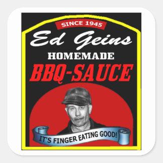 GEINS BBQ SAUCESTICKER SQUARE STICKER