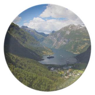 Geiranger Fjord landscape, Norway Plate
