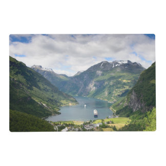 Geirangerfjord view in Geiranger, Norway Placemat