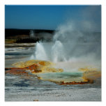 Géiser de Yellowstone Impresiones